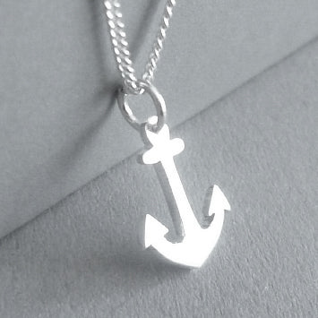 Tiny Anchor Pendant on Chain