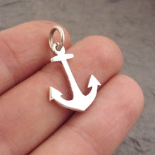 Load image into Gallery viewer, Tiny Anchor Pendant on Chain