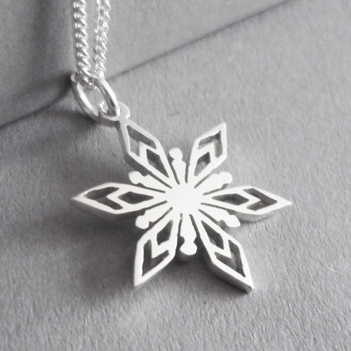 Snowflake Pendant on Chain