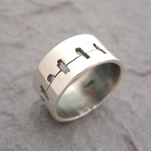 Bird on Wire Ring