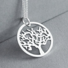 Load image into Gallery viewer, Tree in circle Pendant on Chain