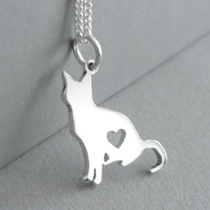Sitting Kitty Pendant on Chain