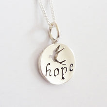 Load image into Gallery viewer, Hope Inspiration Pendant on Chain