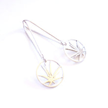 Load image into Gallery viewer, Sterling Silver Aloe Drop Earrings