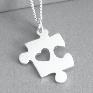 Puzzle Piece Pendant on Chain