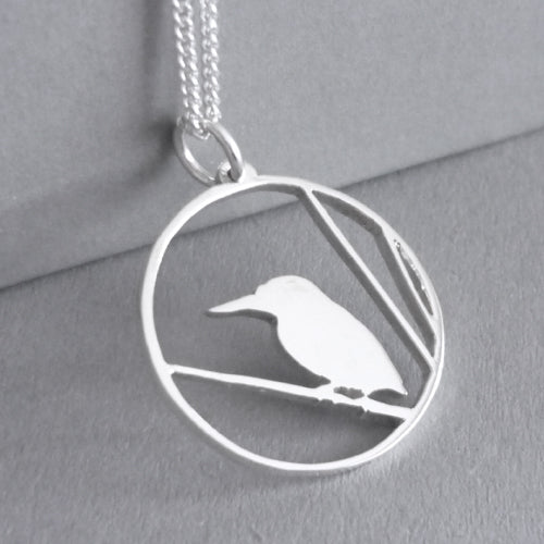 Kingfisher Pendant on Chain