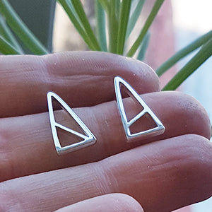 'Similar but Different' Triangle Stud Earrings