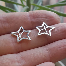 Load image into Gallery viewer, 'Similar but Different' Star Stud Earrings.