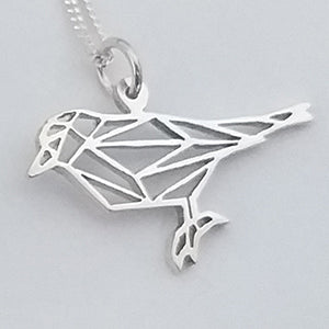 Origami Sparrow Pendant on chain