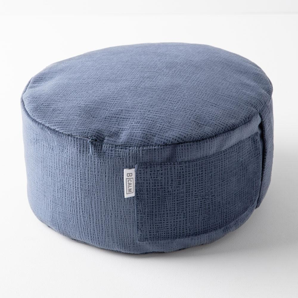 CALM MEDITATION CUSHION IN ROYAL SUEDE