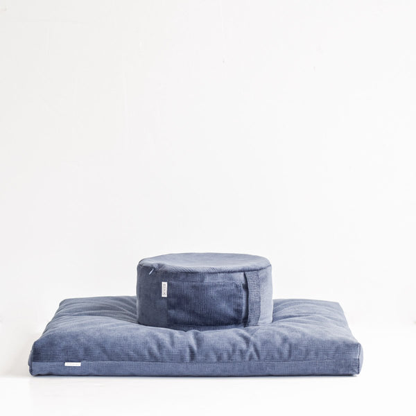 CALM FLOOR PILLOW IN ROYAL SUEDE