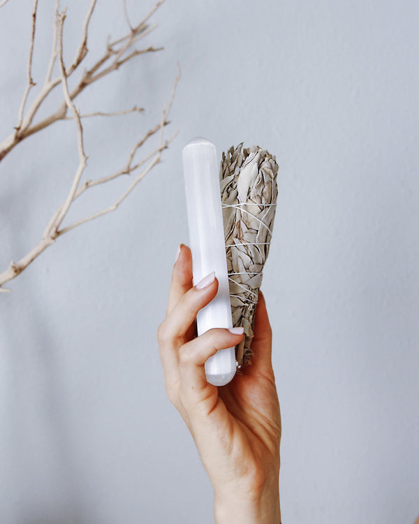 SELENITE Wand - The Astral House