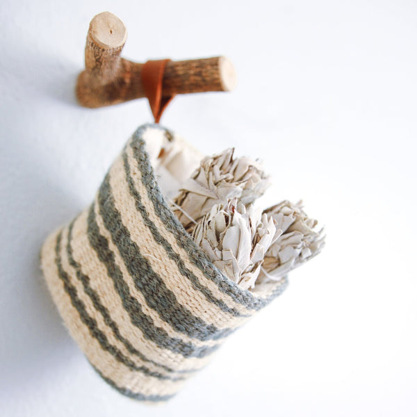 Jute Wall Basket with White Sage - The Astral House