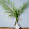 Good Luck Glass Teardrop Ornament with Feather 5""