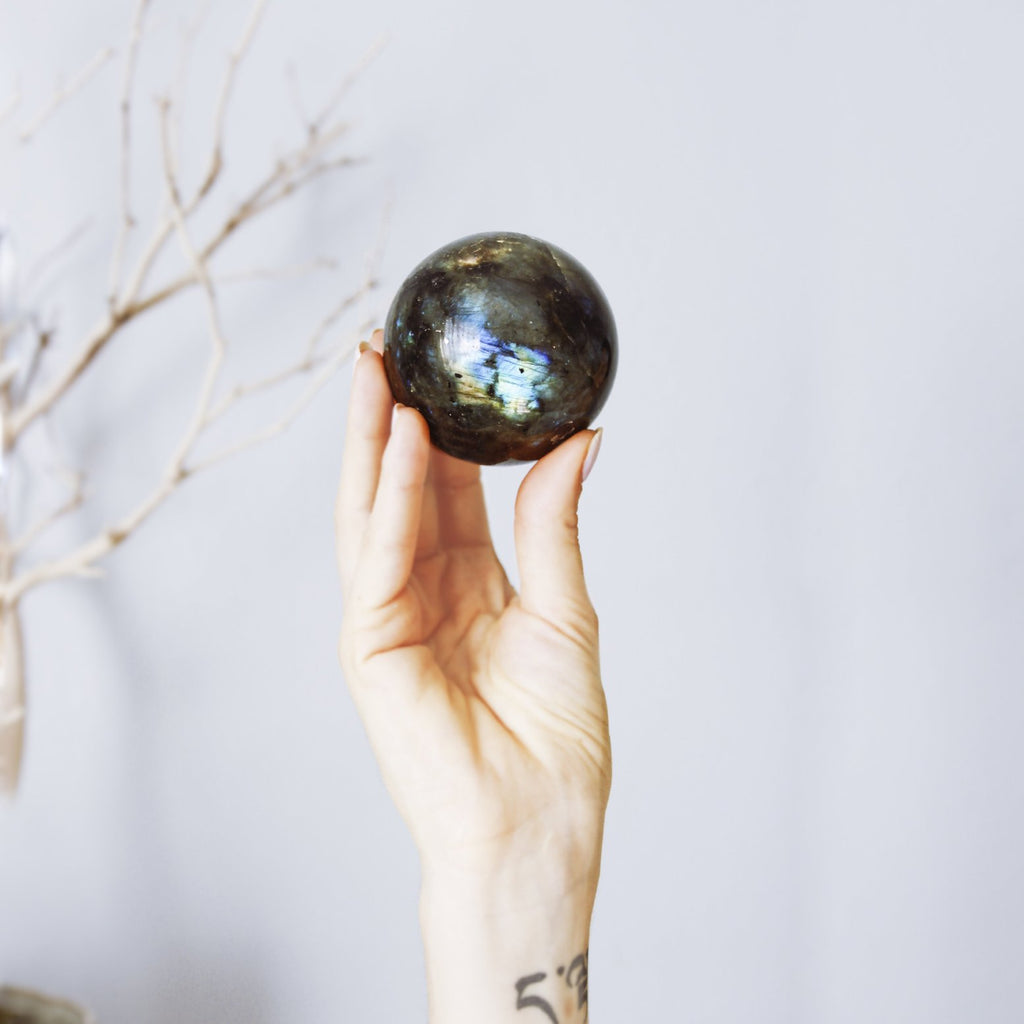 LABRADORITE Spheres - The Astral House