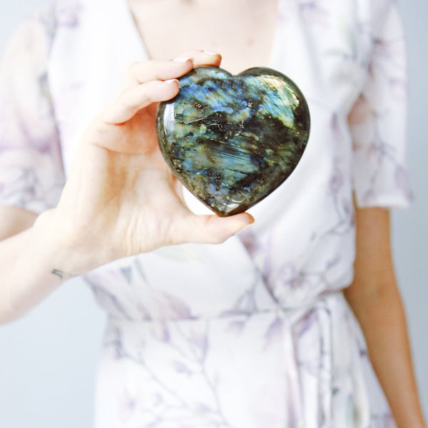 Create MAGIC- LABRADORITE HEARTS - The Astral House