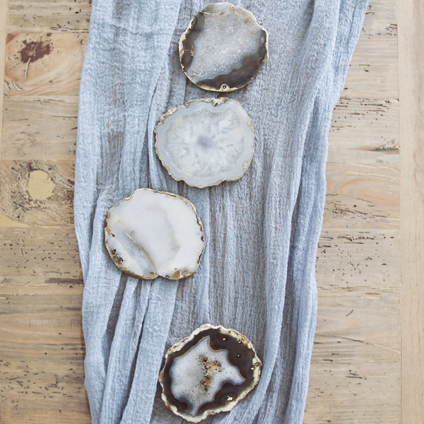 Natural Agate Coaster Set - The Astral House