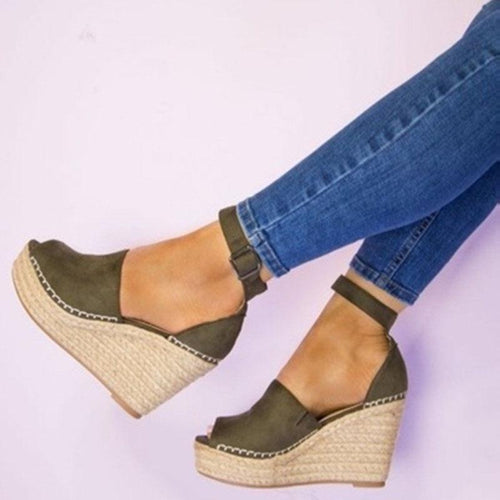 69c3889d9d08 Fashion Wedge Fish Mouth Sandals