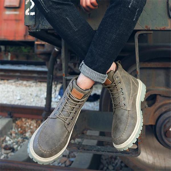 103c850f4dad Business Fashion Casual Solid Color High Tube Men Martin Boot Shoes ...