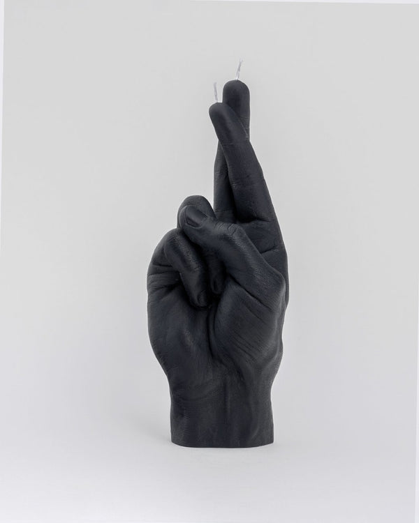 Candle Hand 'Fingers crossed' Black