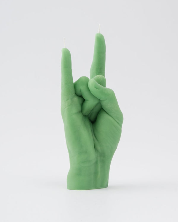 Candle Hand 'You Rock' Green
