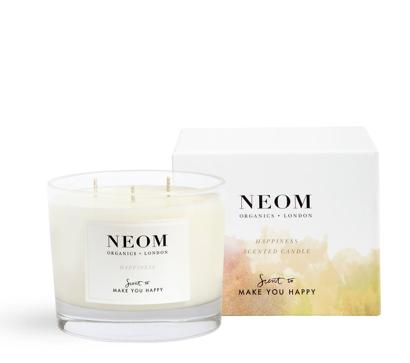 Neom 3 Wick Candle - Scent to Make You Happy