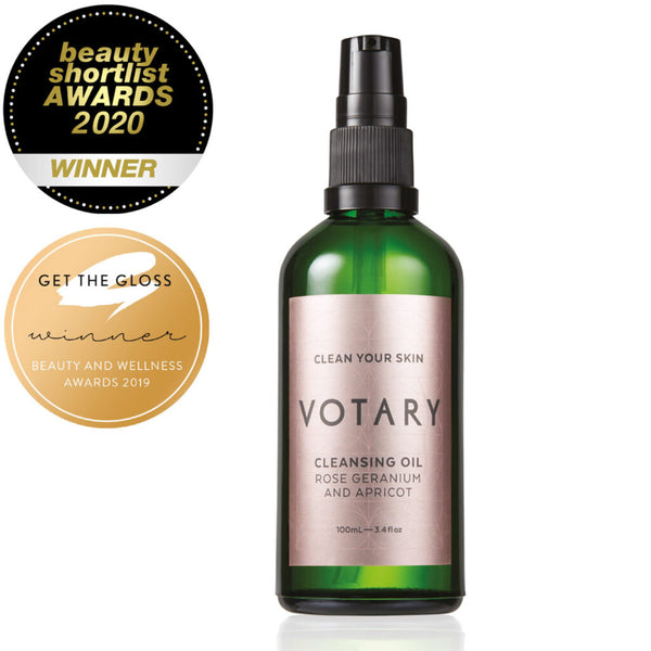 Votary - CLEANSING OIL - ROSE GERANIUM AND APRICOT