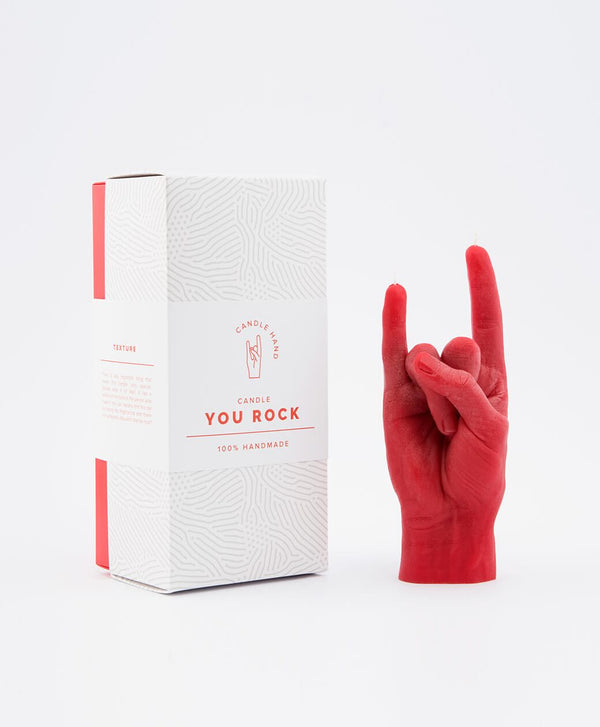 Candle Hand Red Hand Gesture Candle You Rock