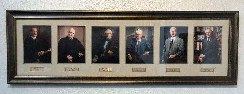 Images of district judges from sourced from the Oregon Historical Society. The first three are painted, the latter three are photographs
