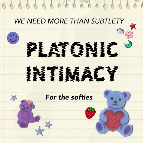 platonic intimacy text with bear stickers
