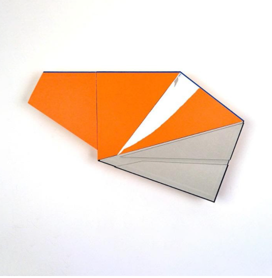 """Artist Ryan Sarah Murphy's """"For Everything's Put Away"""" uses cut book covers, foam core and posterboard."""