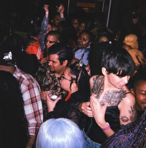 Party hosted by Black trans mutual aid organization For The Gworls at Bushwick venue Luv Story