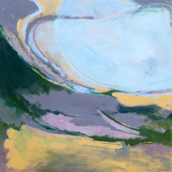 An original Expressionist Abstract Acrylic Landscape painting Wave Front by Beth Barry based in New York