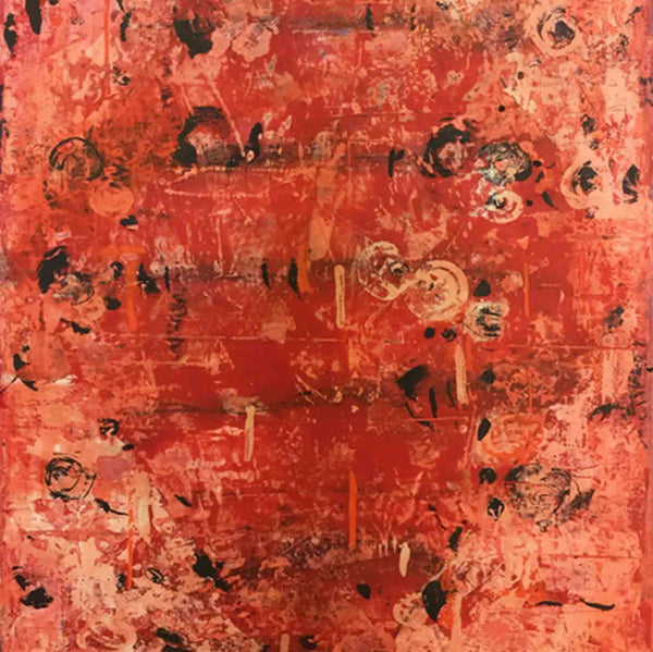 An original abstract oil painting by Shira, an artist who has exhibited at New York, titled Big Year