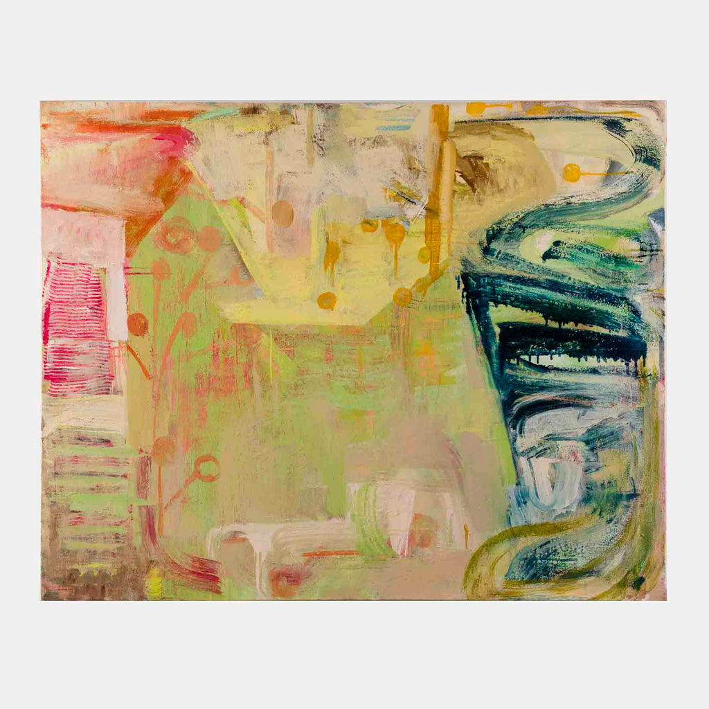 An original Expressionist Abstract oil painting Liminal Puzzle by Molly Herman based in New York