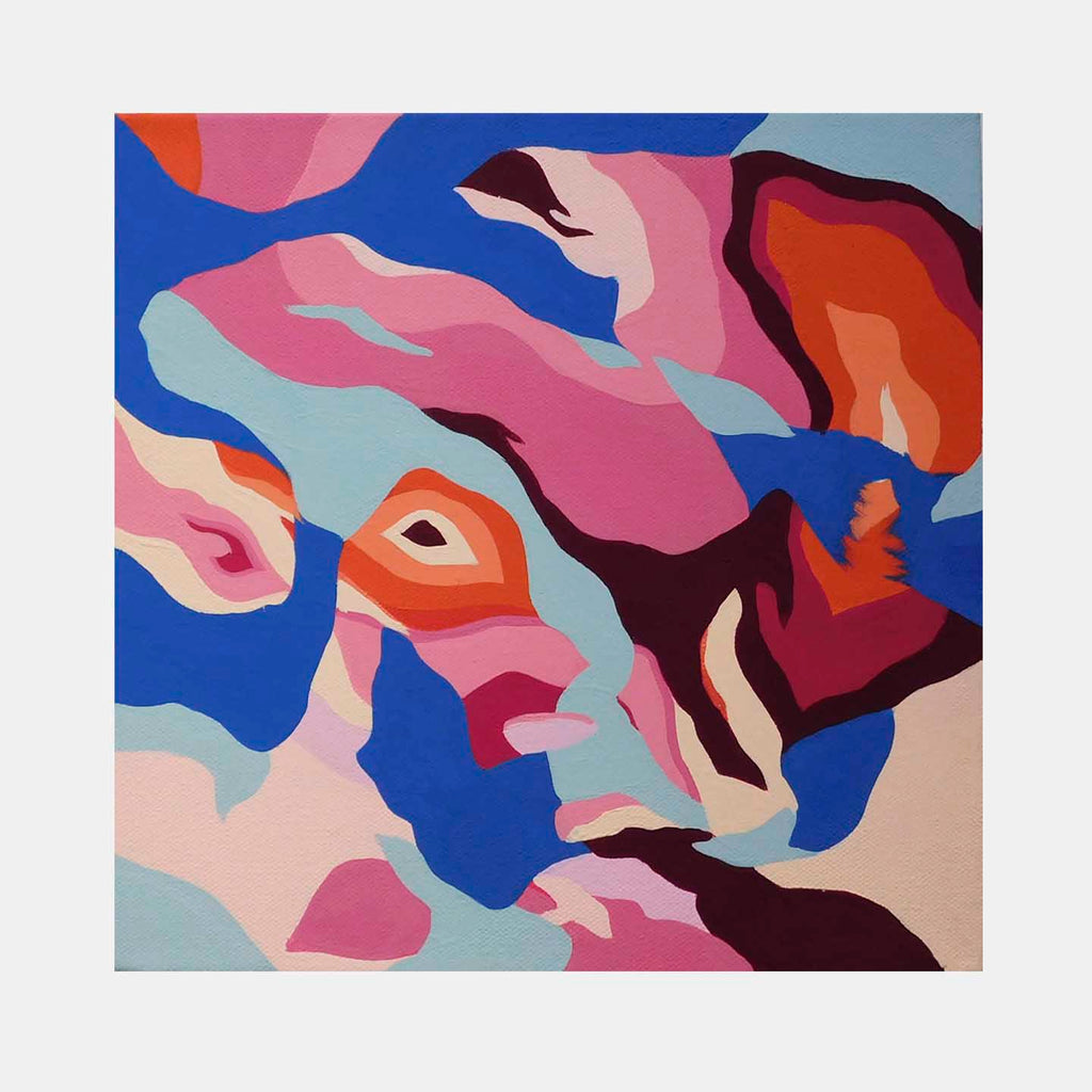 An original psychedelic abstract artwork by Ellannah Sadkin, a pop artist based in Woodstock who has exhibited her works in Red Bull house of art. Ellannah's artworks are inspired by cartoon aesthetics and often described as comic abstraction