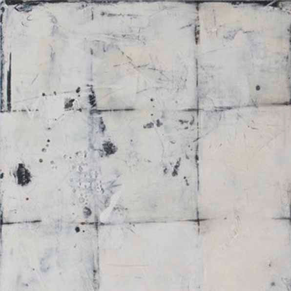 An original abstract oil painting by, an artist who has exhibited in New York, titled In Grid 2