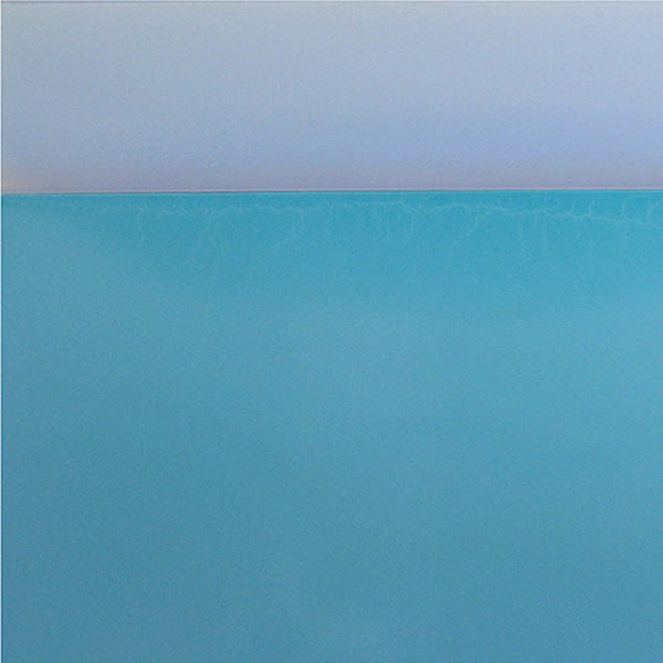An original gray abstract minimalist colorfield painting by Susan English, an artist who has exhibited in New York, titled Sea/Wall No.2