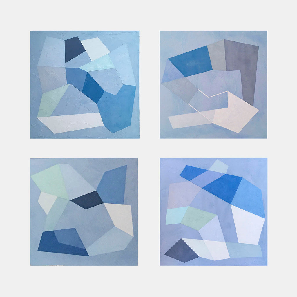 Blue Trace 1-4 by Kati Vilim