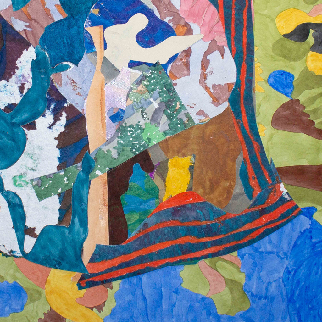 An original abstract watercolor painting by Winnie Sidharta, a Brooklyn-based artist, titled Above The Ground.