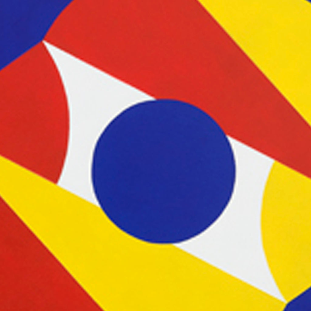 An original Acrylic geometric painting Frik-Shuhn: Aperture by Thomas Spoerndle, based in New York