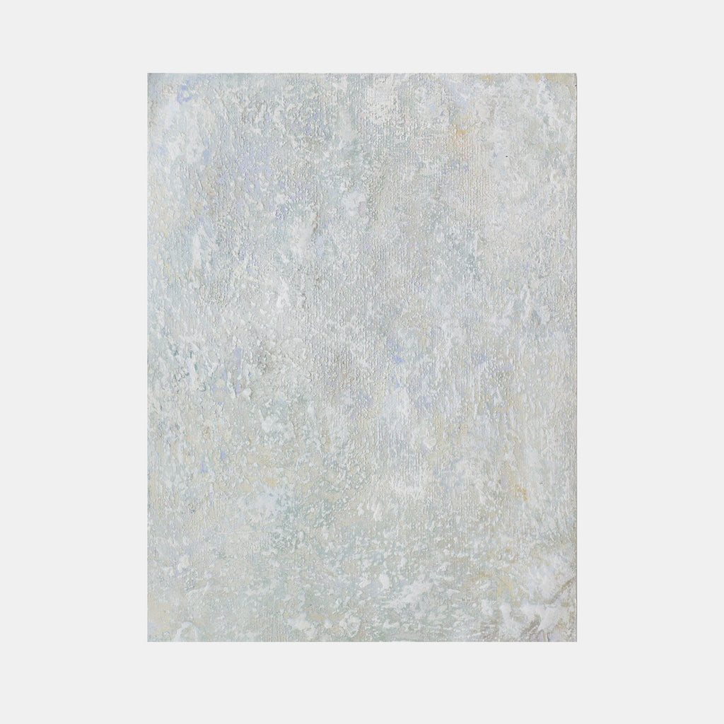 An original expressionist acrylic painting Untitled (White Painting 18-04) by Jacqueline Ferrante