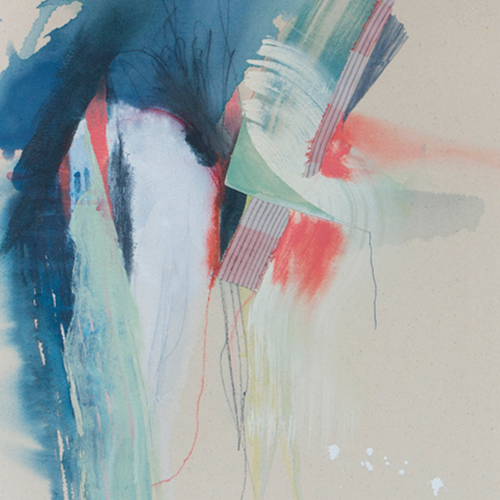 An original abstract expressionist painting by Rebecca Stern, an artist who has exhibited in New York, titled Forces Beyond