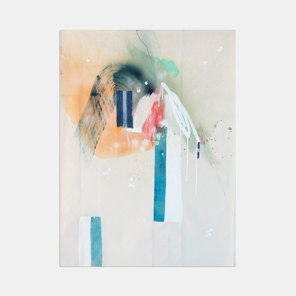 An original abstract expressionist pastel painting by Rebecca Stern, an artist who has exhibited in New York, titled Slight Pause