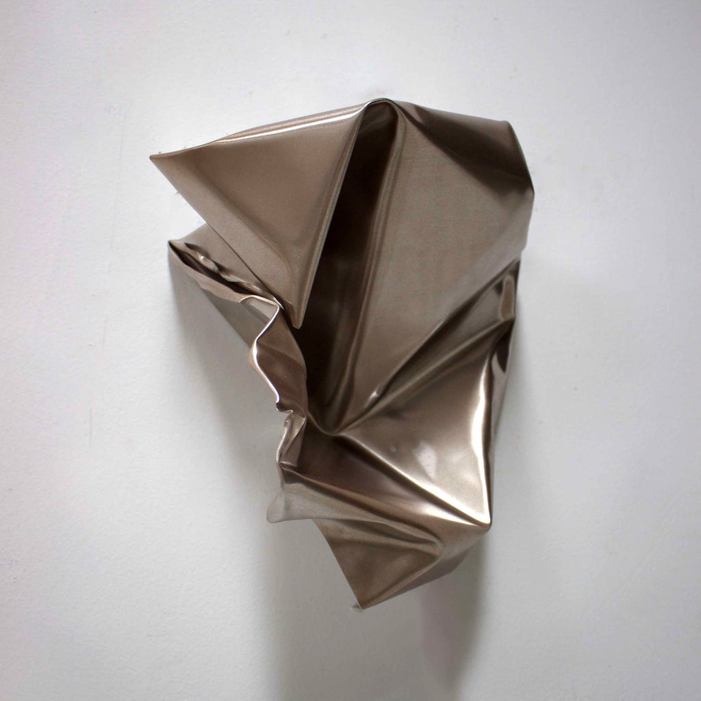 An original minimalist mixed media sculpture by Ahavani Mullen, an artist who has exhibited in New York, titled Friendship with the Unknown No. 22