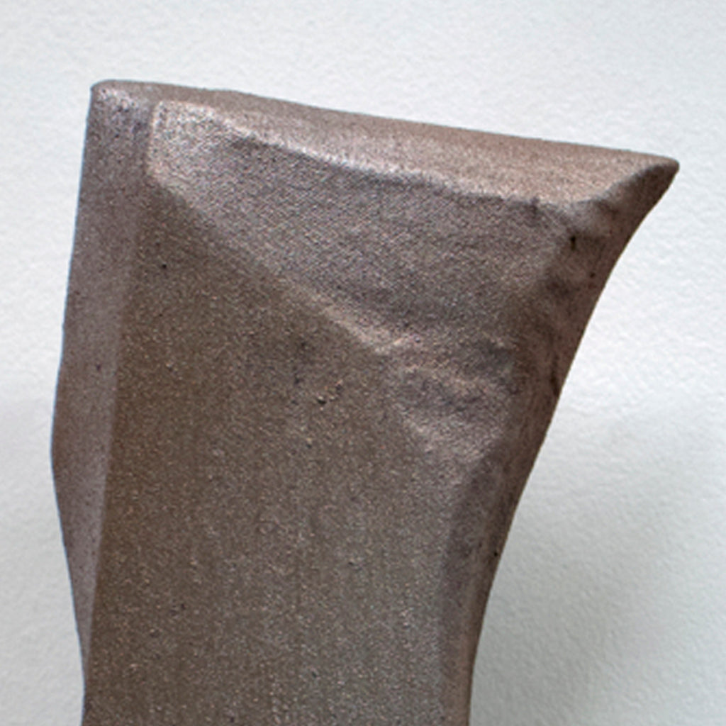 An original minimalist mixed media sculpture by Ahavani Mullen, an artist who has exhibited in New York, titled Friendship with the Unknown No. 32