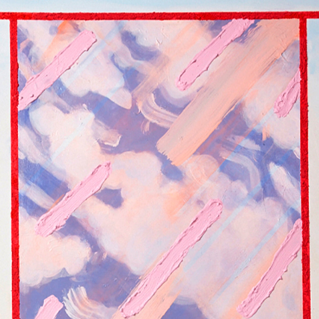 An original abstract acrylic painting by Christina Graham an artist who has exhibited in New York, titled Accurate reflections 3