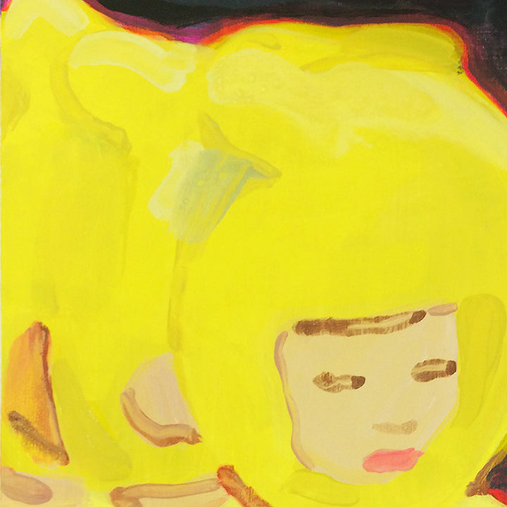 An original acrylic portrait painting by Michelle Selwa, an artist who has exhibited in New York, titled 20471120 Fall/Winter 1999.