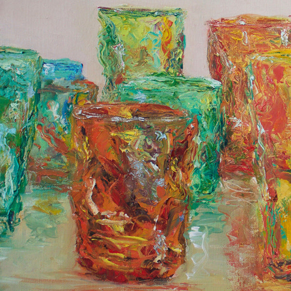 Still Life on Glass Cups