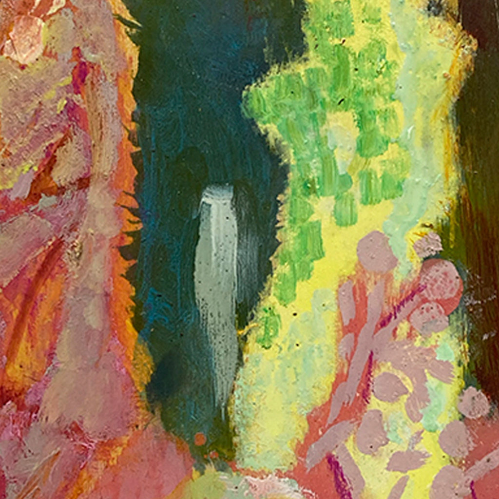 An original Expressionist Abstract oil painting Green Passage by Molly Herman based in New York.